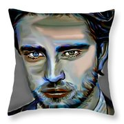 Robert Pattinson Throw Pillow