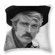 Robert Redford (1936-) Throw Pillow by Granger