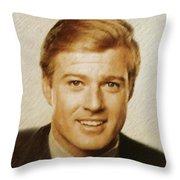 Robert Redford, Actor Throw Pillow