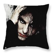 Robert Smith - The Cure  Throw Pillow