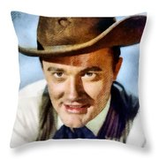 Robert Vaughn, Vintage Actor Throw Pillow