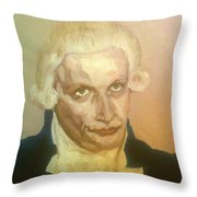 Robespierre Frowns  Throw Pillow