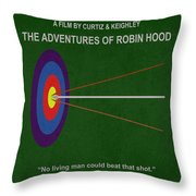Robin Hood Movie Poster Throw Pillow