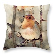 Robin Song Of Spring Throw Pillow