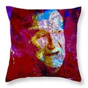 Robin Williams Paint Splatter Throw Pillow