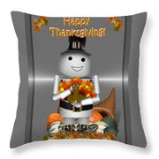 Robo-x9 The Pilgrim Throw Pillow