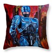 Robocop Throw Pillow
