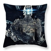 Robot Assassin Throw Pillow