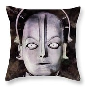 Robot From Metropolis Throw Pillow