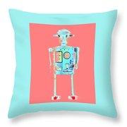 Robot 4 Throw Pillow
