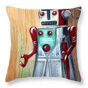 Robot Man Throw Pillow