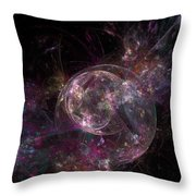 Robot New Years Eve Throw Pillow
