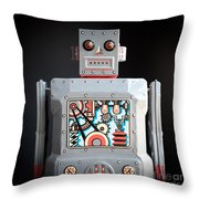 Robot R-1 Square Throw Pillow