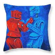 Robot Wars Throw Pillow
