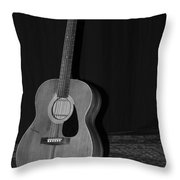 Robyn Hitchcock's Guitar Throw Pillow by Lauri Novak