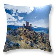 Rocca Calascio Throw Pillow