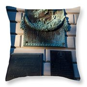 Rochambeau Plaques Vernon House Newport Rhode Island Throw Pillow