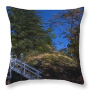 Roche Harbor Chapel In San Juan Island Throw Pillow