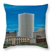 Rochester Across The River Throw Pillow