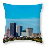 Rochester Ny Skyline Throw Pillow