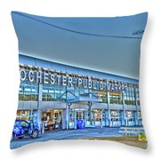 Rochester Public Market Throw Pillow by William Norton