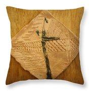 Rock - Tile Throw Pillow