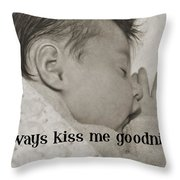 Rock A Bye Baby Quote  Throw Pillow