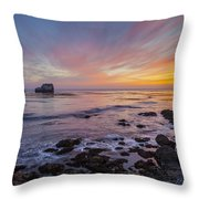 Rock And Piedras Blancas Lighthouse Throw Pillow