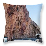 Rock And Road Throw Pillow