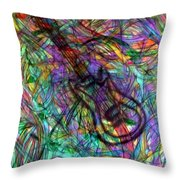 Rock And Roll Party Throw Pillow