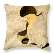 Rock And Sand Throw Pillow