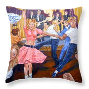 Rock Around With Ollie Vee Throw Pillow