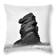 Rock At Morro Bay Throw Pillow