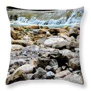 Rock Bed Throw Pillow