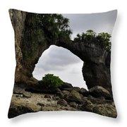 Rock Bridge At Neil Island Throw Pillow
