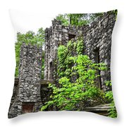 Rock Castle Fireplace Throw Pillow