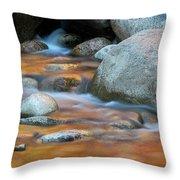 Rock Cave Reflection Nh Throw Pillow