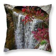 Rock City Falls Throw Pillow