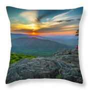 Rock Climbing At Ravens Roost Throw Pillow