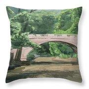 Rock Creek Bridge 5 Throw Pillow