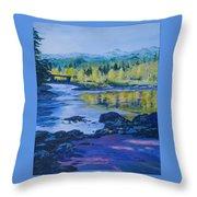 Rock Creek Fishing Hole Throw Pillow