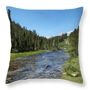 Rock Creek Throw Pillow by Kenneth Hadlock