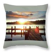 Rock Creek Morning Throw Pillow