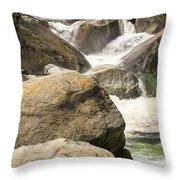Rock Creek Snow Melt Throw Pillow