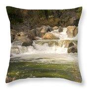 Rock Creek White Water Throw Pillow