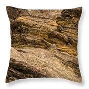 Rock Cropping Throw Pillow