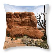 Rock Fin -- Arches National Park Throw Pillow