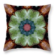 Rock Flower Throw Pillow
