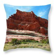 Rock Formation Of La Sal Mountains Throw Pillow
