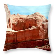 Rock Formation Of Red Sandstone Arches National Park Throw Pillow